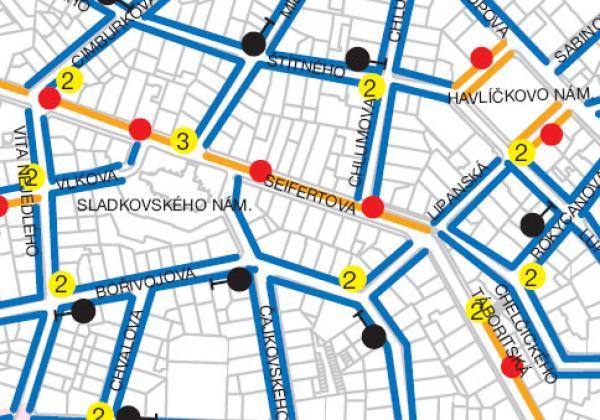 Mapa Zon Placeneho Stani Na Uzemi Mestske Casti Praha 3 Kauza3